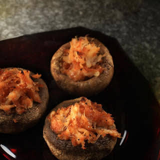 Crab and Fontina Stuffed Mushrooms.