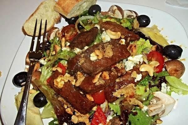 Ribeye Salad W/ Honey Soy Pan Sauce