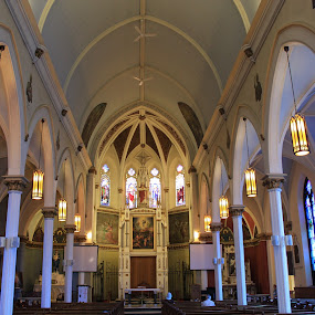 Sacred Heart, Ingersoll, Ontario, Canada by Carl VanderWouden - Buildings & Architecture Places of Worship