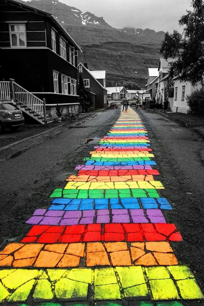 Arcobaleno islandese di boomerang