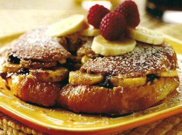 Banana Nutella Stuffed Croissant Recipe