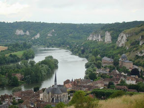 Photo: Vallée de la Seine aux Andelys.