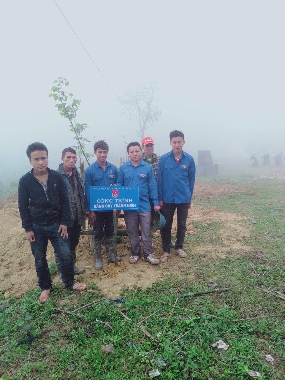 Đoàn xã Trung Lý xây dựng công trình hàng cây thanh niên