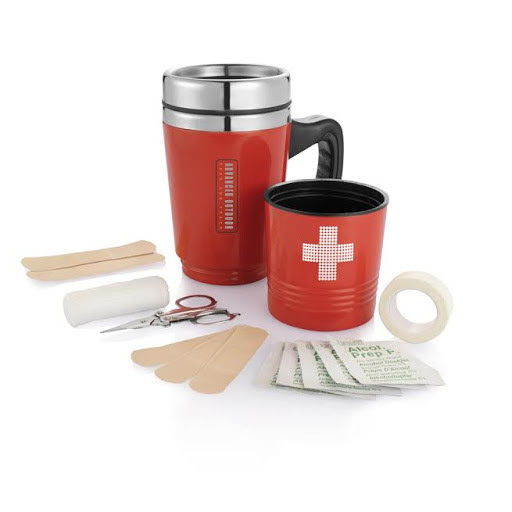 Travel Mug & First Aid Kit Set