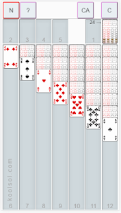 The classic one card solitaire game with solutions - náhled