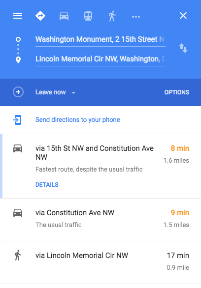 Report incorrect driving directions screenshot 1