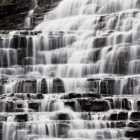 Albion Falls side by Brad Chapman - Landscapes Waterscapes ( water, waterfalls, 2013, fall, falls, hamilton, albion falls,  )