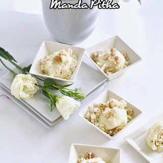 Manda Pitha (Rice Dumplings with Coconut Filling)