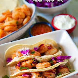 Ceviche-Marinated & Grilled Louisiana Shrimp Tacos {Giveaway}