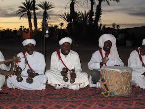Photo: Group of muscians from the Erfoud area playing during the Taragalte Festival 2010
