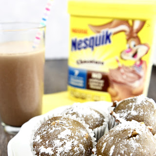 Milk Chocolate Peanut Butter Muffins with Nesquik.