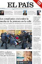 Photo: Los estudiantes encienden la mecha de la protesta en la calle; RTVE se plantea cerrar Teledeporte y Clan por los recortes; y La 'ley Sinde' entra en escena, entre los temas de nuestra portada de este jueves 1 de marzo. http://srv00.epimg.net/pdf/elpais/1aPagina/2012/03/ep-20120301.pdf