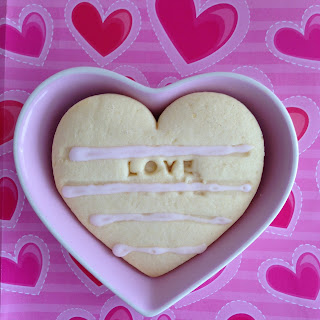 Nigella Lawson love heart cut-out cookies for Valentine's Day