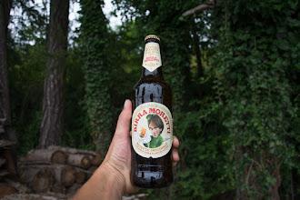 Photo: Sporą ulewę wykorzystuję by wypić piwo pod wiatą.