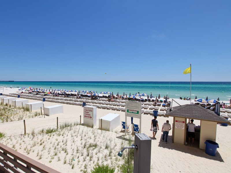 How far is Panama City Beach from Birmingham (Alabama)