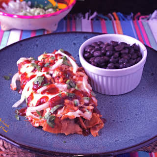Red Enchiladas or Chilaquiles.