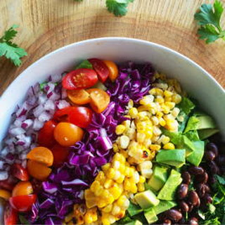 Healthy Mexican Rainbow Salad