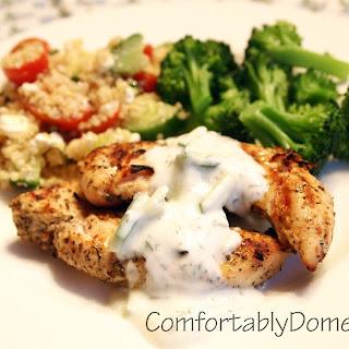 Mediterranean Grilled Chicken with Homemade Tzatziki Sauce
