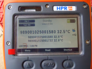 Photo: Temperature-transmitters reader
