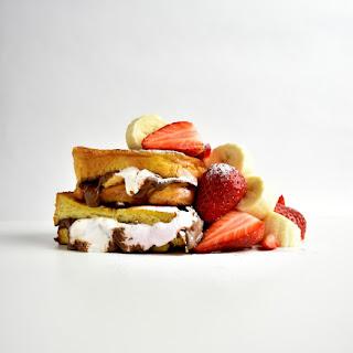 Nutella and Marshmallow Brioche French Toast.