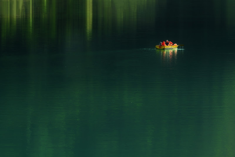 Sul lago smeraldo di nidinola