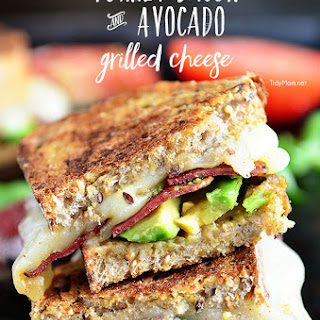 Turkey Bacon and Avocado Grilled Cheese.
