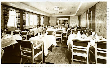 "Photo: ""Amsterdam"" first class dining saloon"