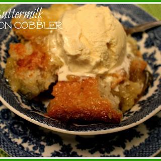 Buttermilk Lemon Cobbler!