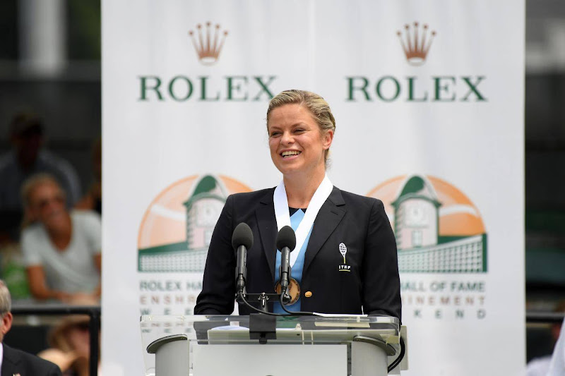 Kim Clijsters inducted into International Tennis Hall of Fame
