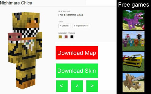 Download Map & Skin FNAF for Minecraft Google Play softwares