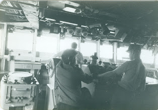 Photo: Bridge - a busy place when underway.