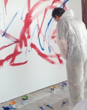 atelier art thérapie fresque pollock