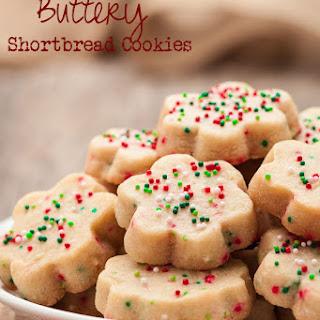 3-Ingredient Buttery Shortbread Cookies.