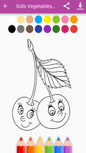 Kids Vegetables & Fruits Coloring Book 1.11.1 screenshots 12