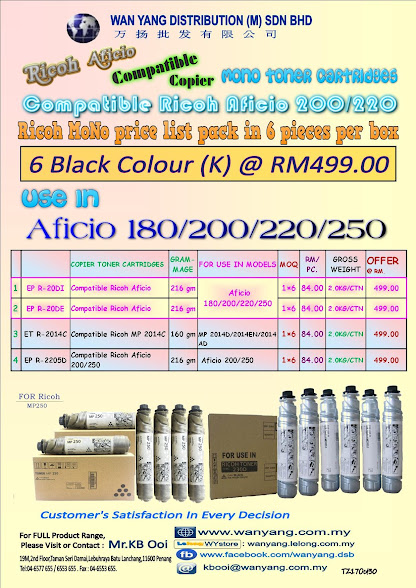 RICOH AFICIO 200/220 Compatible Copier Toner Cartridge