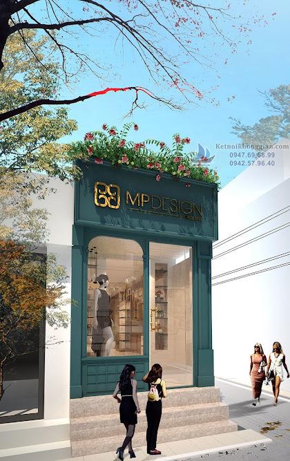 thiết kế cửa hàng thời trang lịch sự