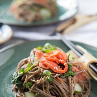 Smoked Salmon Soba Noodle Salad.