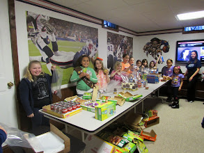 Photo: Packing kare kits with friends!