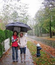 Photo: Hurricane Sandy in Boston - with Anna Shakina and Yaroslava Serdobololskaya