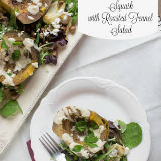 Lebanese Spiced Squash with Tahini Dressing.