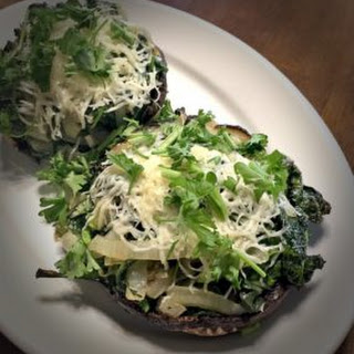 Spinach and Onion Stuffed Portobello Mushrooms