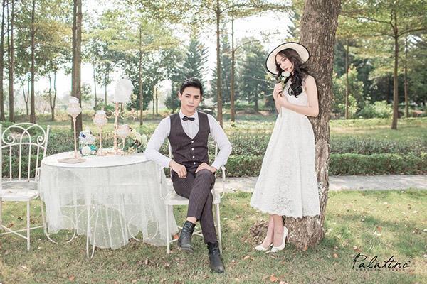 chụp ảnh cưới ở phim trường biệt thự hoa hồng