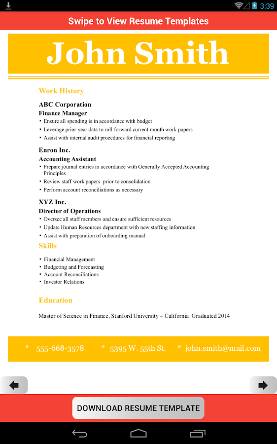 resume template creator pro android apps on google play