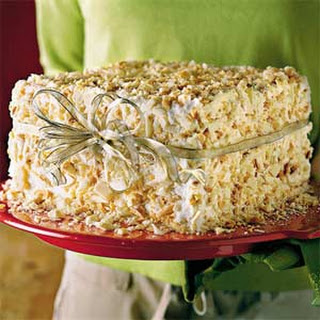 White Chocolate-Almond Cake.