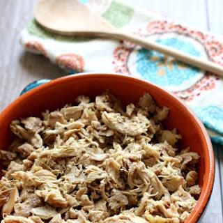 Instant Pot Seasoned Shredded Chicken.