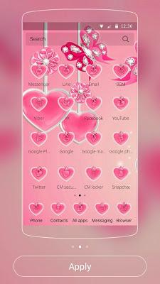 Pink Theme Love Rose Pink - screenshot