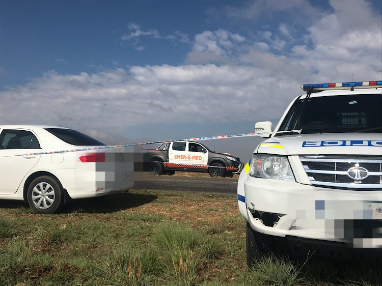 Two men have been found murdered in their vehicle on a road in Heidelburg.