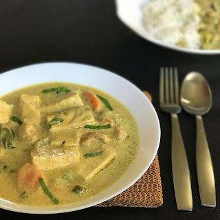 Vegan Thai Green Curry with Tofu Recipe