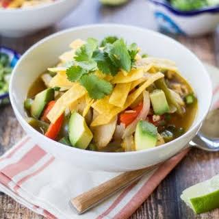 Super Easy Chicken Fajita Soup.