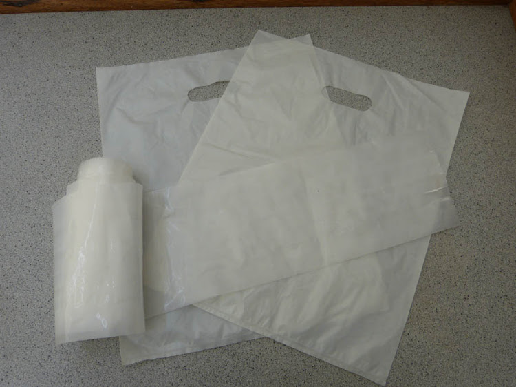 Biodegradable plastic bags.